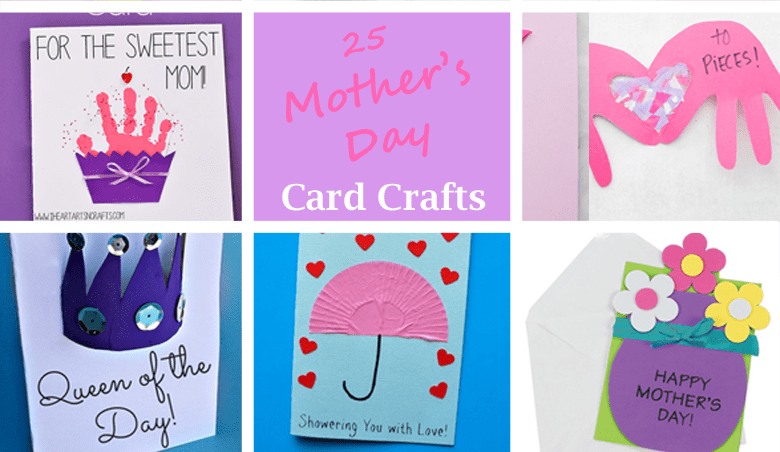 mothers day card -mothers day craft - spring kid crafts- kid crafts - acraftylife.com #preschool