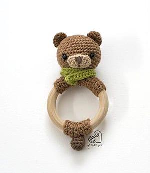 CROCHET PATTERN Lucy the Fox crochet amigurumi rattle teether | Etsy | 346x300