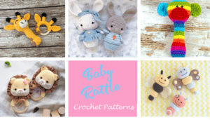 crochet baby rattle Patterns - Cute Gifts - A Crafty Life - amigurumi #crochet #crochetpattern #baby