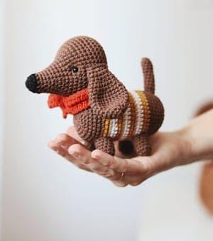 170 Crochet Pattern Dog Dachshund Coconut Amigurumi soft | Etsy | 339x300