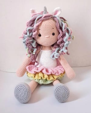 Amigurumi Free Candy Doll Pattern ⋆ Crochet Kingdom | 371x300