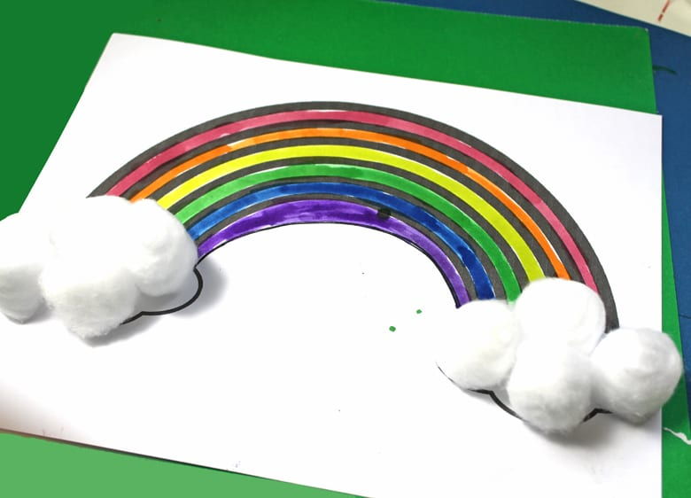 simple painted rainbow craft- crafts for kids- kid crafts - acraftylife.com #preschool #kidscraft #craftsforkids