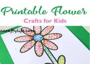 printable flower dot painting kids craft - acraftylife.com #craftsforkids #preschool #kidscrafts