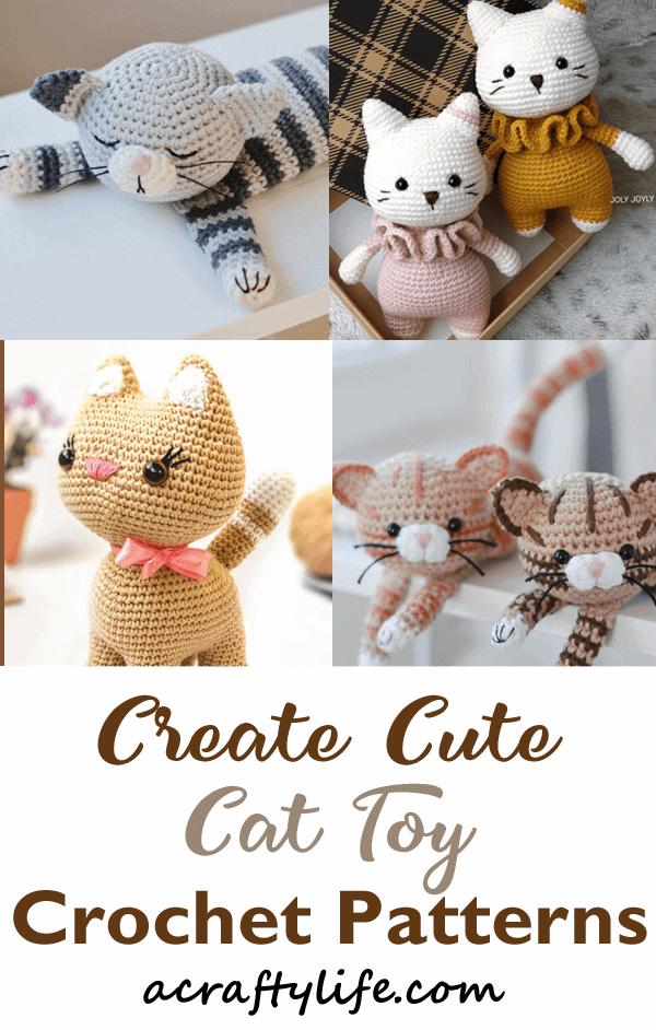 Pattern Bundle Crochet Kitty Cat Amigurumi Kitty Pattern Siamese ... | 942x600