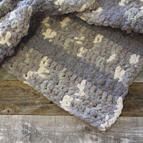 top gray chunky throw blanket crochet pattern