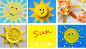 sun kids craft - spring craft - crafts for kids- kid crafts - acraftylife.com #preschool #kidscraft #craftsforkids