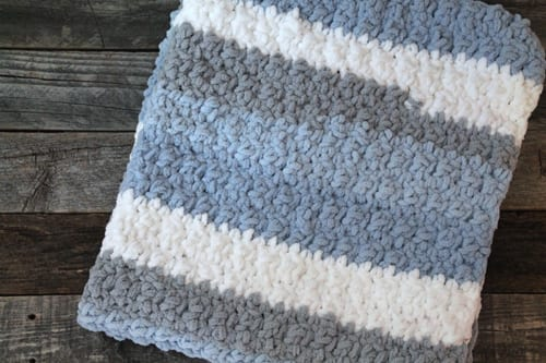 Knitted baby blanket-Personalized baby blanket-Baby blanket-Knit baby blanket-Crochet baby blanket-Green multicolored baby blanket-