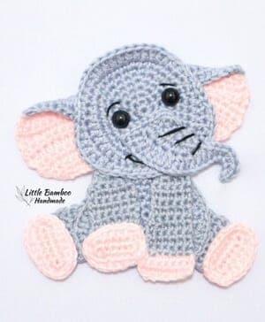 Crochet Elephant Stuffed Animal Rainbow Ears   Etsy   364x300