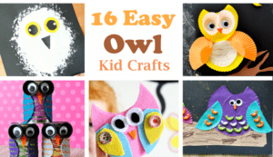 owl kid crafts - crafts for kids - kid craft -#kidscraft #preschool #craftsforkids acraftylife.com