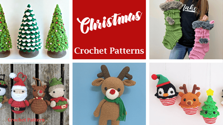 free crochet Christmas patterns - winter - home decor- acraftylife.com #crochet #crochetpattern #diy #christmas