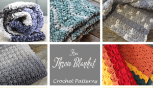 free crochet throw blanket patterns -acraftylife.com #crochet #crochetpattern #freecrochetpattern