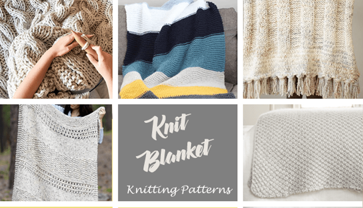 knitting blanket patterns -free knit pattern -acraftylife.com #diy #knittingpattern #knit