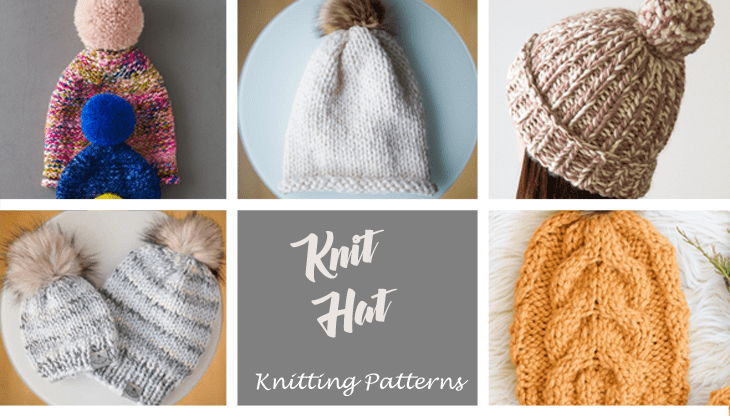 hat knitting patterns -free knit pattern -acraftylife.com #diy #knittingpattern #knit