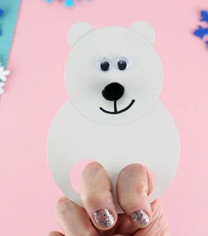 polar bear crafts for preschoolers- arts and crafts activities -winter kid craft- acraftylife.com #kidscraft #craftsforkids #winter #preschool