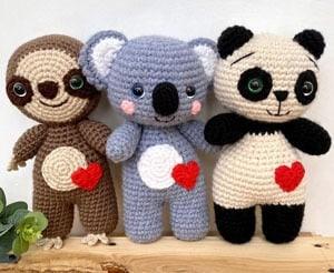 patrón koala crochet -amigurumi - pdf imprimible - acraftylife.com #crochet #crochetpattern #amigurumi