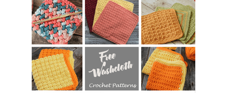 free pattern for a dishcloth pattern -acraftylife.com #crochet #crochetpattern #diy #freecrochetpattern