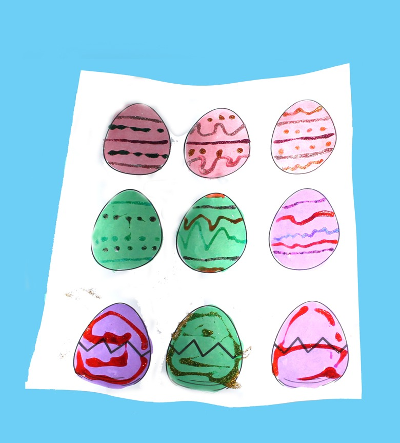 printable Easter egg template kid crafts - crafts for kids - spring craft for kids -acraftylife.com #kidscraft #craftsforkids #preschool