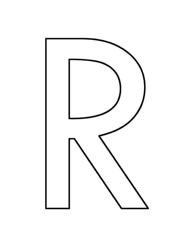 Hojas de trabajo imprimibles de la letra R para niños en edad preescolar - plantillas de actividades - Manualidades para la letra R - manualidades para niños en edad preescolar - receta matemática del alfabeto acraftylife.com #preescolar #craftsforkids #kidscrafts